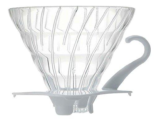 HARIO (ハリオ) V60 02 耐熱ガラス 透過 コーヒードリッパー  ホワイト コーヒードリップ 1~4杯用  VDG-02W