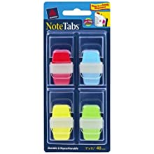 Avery Mini NoteTabs, 1 x 1.5 Inch Round Edge, Assorted Colors, Pack of 40 (16357)