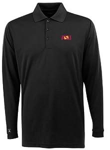 Arizona State Long Sleeve Polo Shirt (Team Color) by Antigua