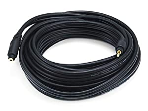 Monoprice 105591 25-Feet Premium Stereo Male to Stereo Female 22AWG Extension Cable - Black