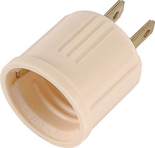 GE 54173 Socket Adapter Converts Outlet to Lamp Socket, Polarized Ivory (Outlet Light Bulb Adapter compare prices)