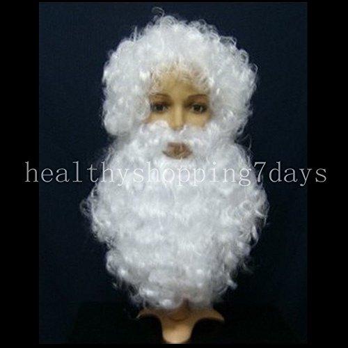 Santa Costume Claus Suit Clause Christmas Xmas Fancy Dress Wig + Beard GD (Velvet Elf Suit Costume)
