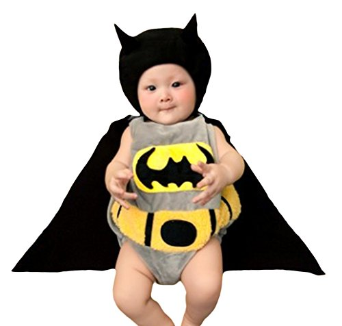 [Unisex Infant Baby Toddlers Halloween Cute Batman Costume (Costume Only)] (Custom Made Infant Halloween Costumes)