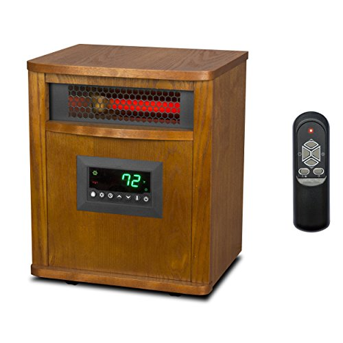 LifeSmart LifePro 6 Element 1500W Portable Electric Infrared Quartz Space Heater (Life Infrared Heater compare prices)