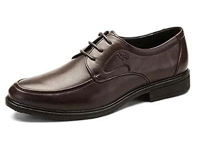 camel s moc toe dress shoes color brown