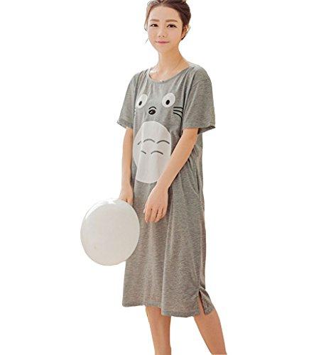 My Neighbor Totoro nightgown Cap Sleeve Costume Dress pajamas nightskirt XXL Gray