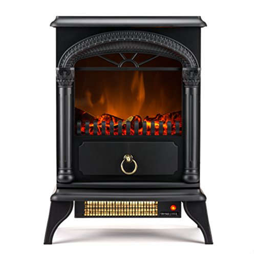 Hamilton Free Standing Electric Fireplace Stove 22 Inch Black Portable Electric Fireplace With