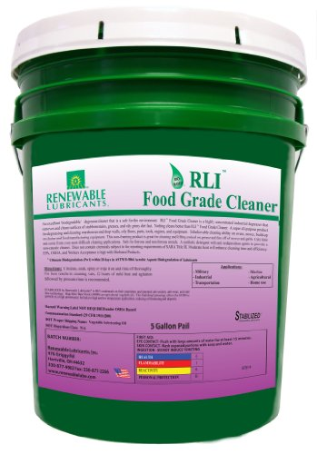 Renewable Lubricants Food Grade Cleaner, 5 Gallon Pail front-161995