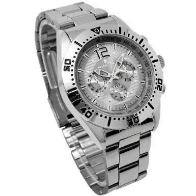 Disney ディズニー ミッキー クロノモデル 回転ベゼル 腕時計 グレー 灰色 クォーツ スワロフスキー 銀【並行輸入品】