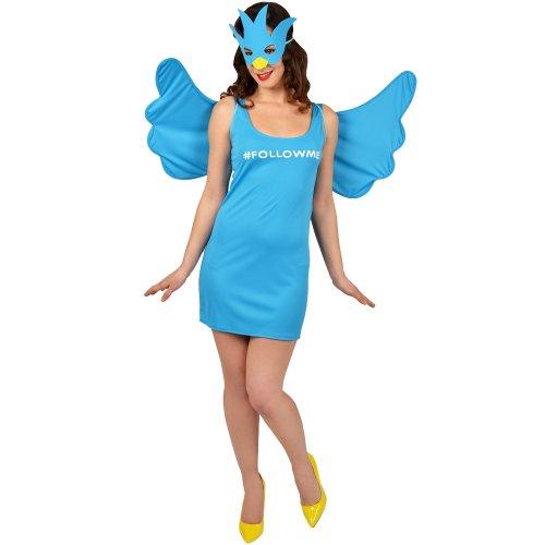 Morphsuits Women's Morphcostume Co Female Social Media Queen Costume, Sky Blue, Small