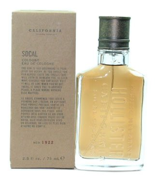 Socal Hollister California Men Cologne Spray 25 Oz 75 Ml In Box