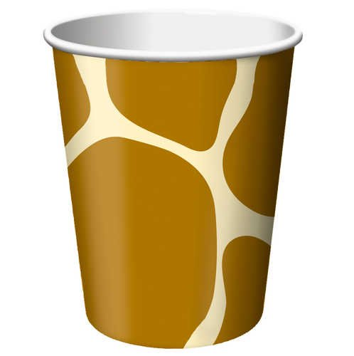 Creative Converting Animal Print Giraffe Hot or Cold Beverage Cups, 8 Count - 1