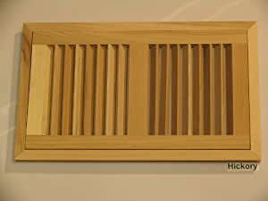 6 x 14 hi output hickory flush unfinished wood heat for Wood floor registers 6 x 14