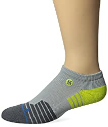 Stance Men's Drill Sergent Fushion Athletic Low Cut Sock, Gray, Small/Medium