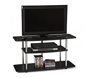 Convenience Concepts Designs2Go Wide 3-Tier TV Stand - Black