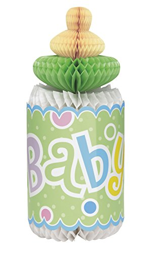 "12"" Honeycomb Polka Dot Bottle-Shaped Baby Shower Decoration"