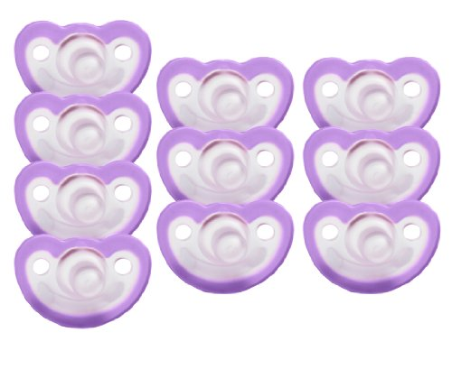 JollyPop 0-3 Months Pacifier 10 Pack Unscented - Lavender
