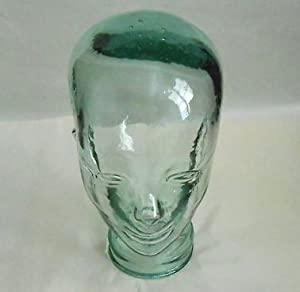 Clear Decorative Recycled Glass Head Made in Spain