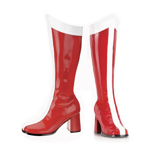 Gogo-305, Red and White Halloween or Costume Wonder Woman Gogo Boots