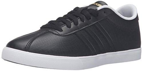 Adidas Performance Women's Courtset W Fashion Sneaker, Black/Black/Matte Gold, 8 M US