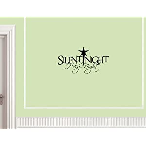 #!Cheap Christmas Decoration Wall Decals Silent Night Holy Night