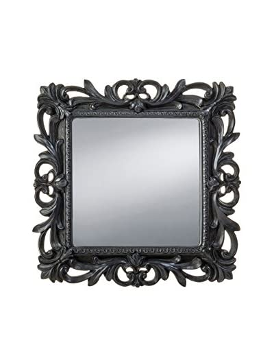Prinz Florence Square Mirror with Border, Black