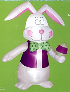 Easter 7' Tall Bunny Airblown Inflatable Rabbit with Bow Tie & Vest
