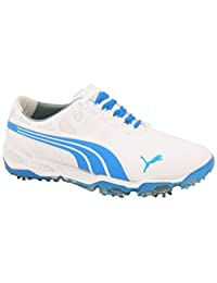 New for 2014 Mens Puma BIOFUSION Golf Shoes White/Blue Aster Sz 11.5 M -Ret $170