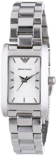 Emporio Armani  AR0359 - Reloj de cuarzo para mujer, con correa de acero inoxidable, color plateado