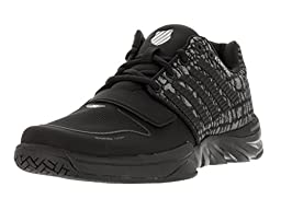 K-Swiss Men\'s X Court Black/Jungle Casual Shoe 9 Men US