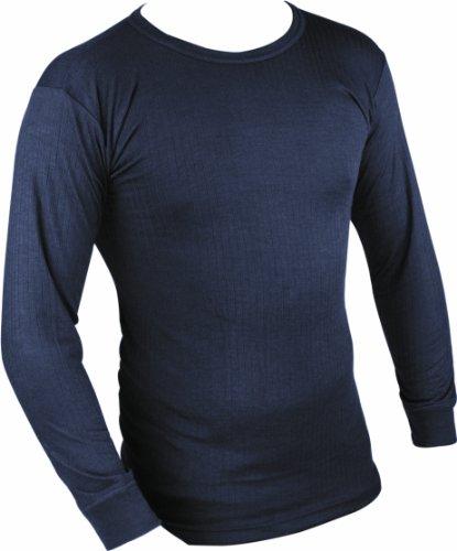 Highlander - Maglia termica a maniche lunghe, strato base, uomo, Blu (Blu navy), large