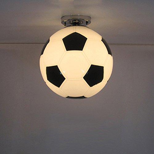 Ancernow Creative LED plafoniere Semplice montaggio a soffitto luci la Coppa del Mondo di calcio ha portato per la camera da letto,soggiorno,stanza dei ragazzi,cucina,corridoio,sala studio,con nessuna fonte di luce,250mm