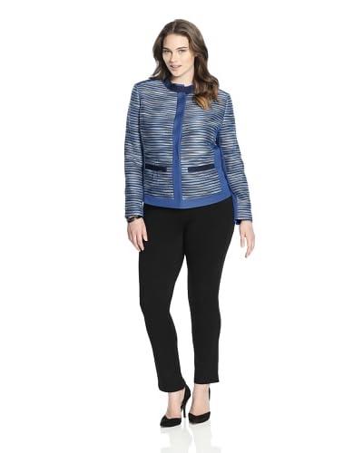 T Tahari Women's Ruby Jacket  [Blue]