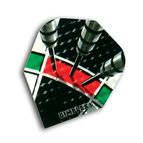 F6038 Treble 20 Dimplex Dart Flights 4 sets pro pack (12 flights insgesamt).