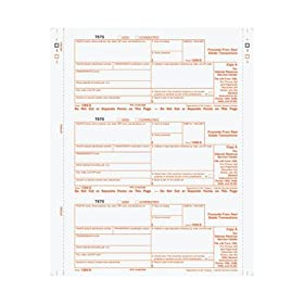1099S Continuous Tax Forms 102 FORMS/PK, 9976862, Proceeds From Real Estate Transactions 3 Part