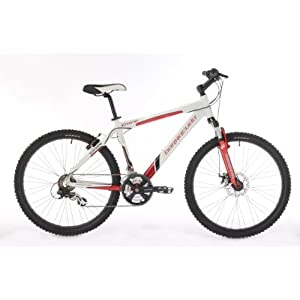 Barracuda Core Mens 21-Spd Hard Tail Mountain Bike - White/Red, 20 Inch