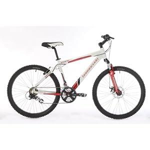 Barracuda Core Mens 21-Spd Hard Tail Mountain Bike - White/Red, 20 Inch