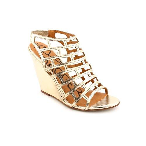Kelsi Dagger Women'S Eris Wedge Sandal, Gold, 9 M Us