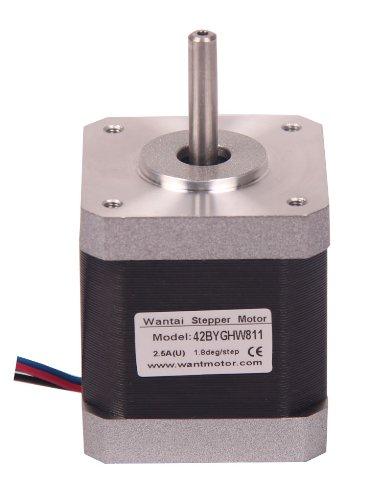 Signstek 3D Reprap Printer Cnc Nema17 48Mm 2.5A 3.1V 4800G.Cm 1.25 Phase Resistance 4 Leads Electric Stepper Motor Fan Motor Control