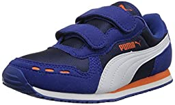 PUMA Cabana Racer Mesh V Kids Sneaker (Infant/Toddler/Little Kid) , Surf The Web/Peacoat, 4 M US Toddler