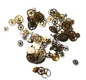 Watch Parts Steampunk Gears Jewelry Mixed Media Metal - 1 oz