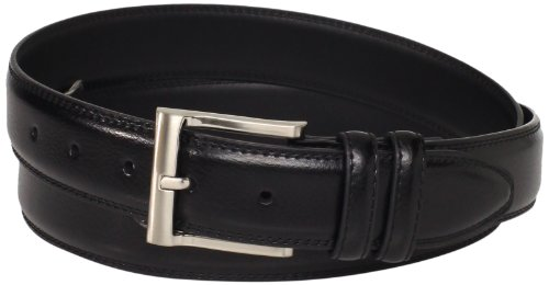 Florsheim Men's Big-Tall Pebble Grain Leather Belt 32MM, Black, 54