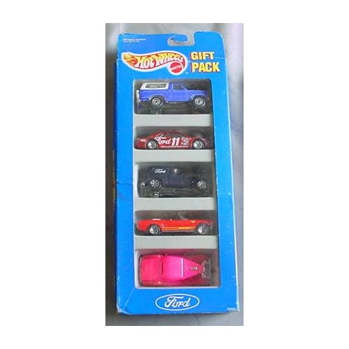 Hot Wheels Ford Gift Pack 5 Car Set w/ 5 Collectible 164 Scale Die Cast Car