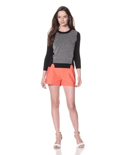 Leroy & Perry Women's Net Graphic Crewneck Sweater