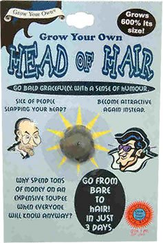 Grow Your Own Head Of Hair A Joke Gift Funny