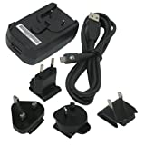 Blackberry International World Travel Charger Adapter with micro USB Cable for Blackberry Pearl Flip 8220 8230 Curve 8530 8520 8900 Storm 9500 9530 Storm2 9550 9520