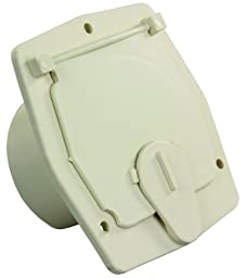 JR Products S-27-14-A Colonial White 30 Amp Square Electric Cable Hatch