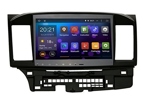 Saita Quad Core 10.2 Inch In-dash Car Stereo Video Player 2 Din 1024×600 GPS Nav Sat for Mitsubishi Lancer Galant with Wifi Bluetooth Radio