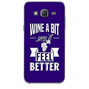Skin4gadgets Awesome Wine & Dine Quotes, Pattern 15, Color - Dark Salmon Phone Skin for SAMSUNG GALAXY J1