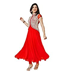 Vastrangam Embroidered Semi Stitched Dress Material